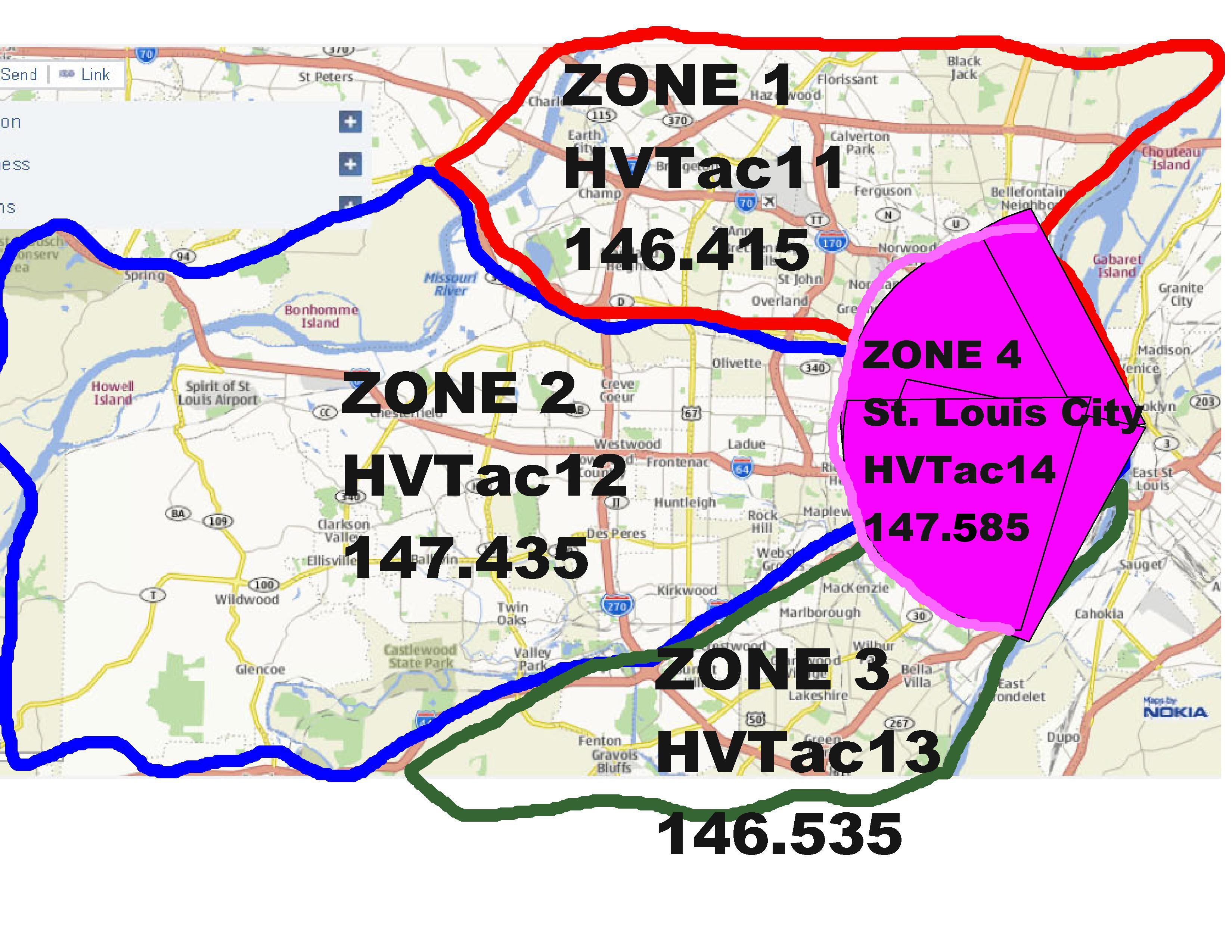 4 zone map